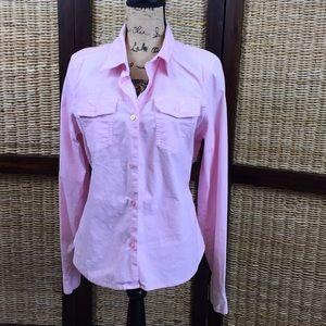 Pink Calvin Klein stretch cotton shirt button down